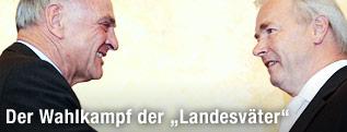 Niederösterreichs Landeshauptmann Erwin Pröll (ÖVP) und der Kärntner Landeshauptmann Gerhard Dörfler (FPK)