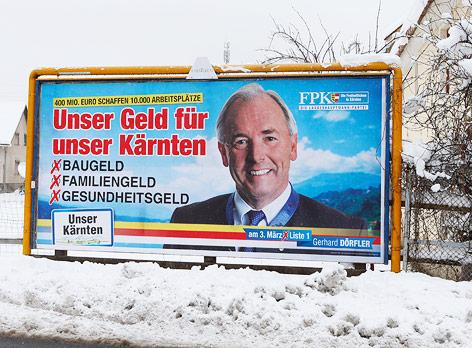 FPK-Wahlplakat in Kärnten