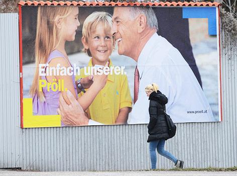 ÖVP-Wahlplakat in Niederösterreich