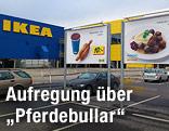 Ikea-Plakat mit Fleischbällchen