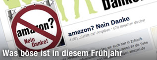 "Screenshot der Facebookseite ""amazon? Nein Danke"""