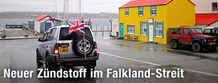 SUV mit britischer Flagge