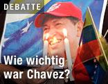 Kerzen vor Plakat mir Chavez