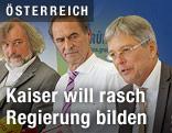 Peter Kaiser, Gabriel Obernosterer und Frank Frey