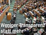 Innenansicht des Parlament
