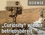 Der Marsrover Curiosity der NASA auf dem Mars