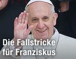 Papst Franziskus I. winkend
