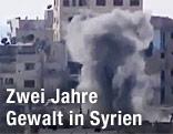 Bombenexplosion in Homs, Syrien