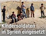 Gruppe syrischer Kinder