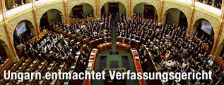 Innenansicht im ungarischen Parlament