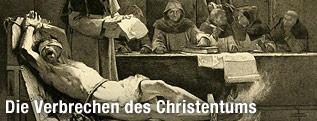Gemälde zeigt Inquisition beim Foltern eines Mannes
