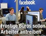 Mitarbeiter von Facebook im Büro