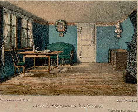 Gemälde zeigt Jean Paul Richters Zimmer
