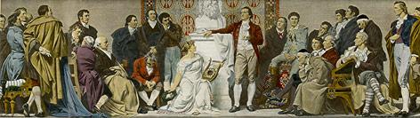 """Gemälde """"Weimar 1803 Goethe"""""""