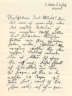 Brief von Jean Paul Richter