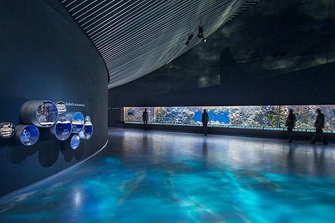 Innenansicht des neuen Aquarium in Kopenhagen