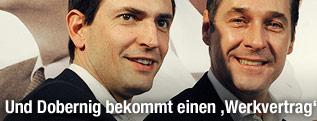 FPK-Parteichef Christian Ragger, FPÖ-Obmann Heinz-Christian Strache
