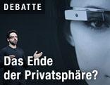 Google-Gründer Sergey Brin stellt die Google Brille vor