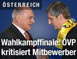 Niederösterreichs Landeshauptmann Erwin Pröll gemeinsam mit Vizekanzler Michael Spindelegger