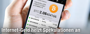 Transfer von Bitcoins am iPhone