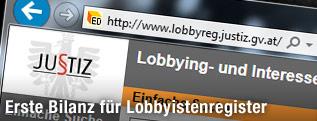 Website des österreichischen Lobbyistenregisters
