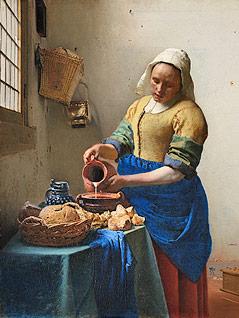 """Gemälde """"Dienstmagd mit Milchkrug"""" von Jan Vermeer"""