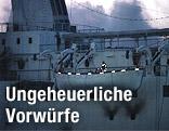"""Feuerwehrmann auf der Nordsee-Fähre """"Scandinavian Star"""""""