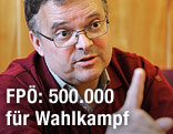 Gerald Hauser, Spitzenkandidat der FPÖ