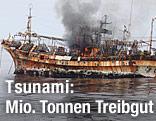 Schiffswrack auf dem Ozean