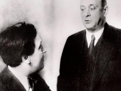 Arnold Schönberg mit Alban Berg