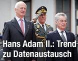 Bundespräsident Heinz Fischer empfängt  Fürst Hans-Adam II von Liechtenstein