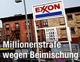 Exxon-Tankstellentafel