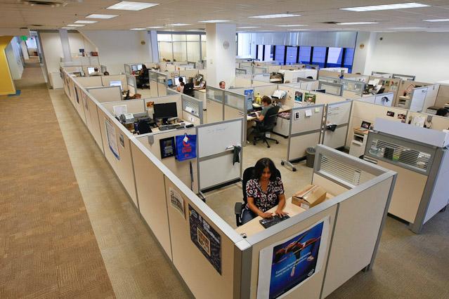 Intel-Großraumbüro in Kalifornien 2009