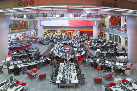 Großraumbüro der BBC
