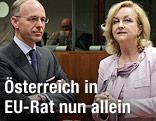Luxemburgs Wirtschaftsminister Luc Frieden und Österreichs Finanzministerin Maria Fekter