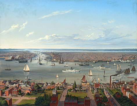 New York (von Long Island aus), 1854