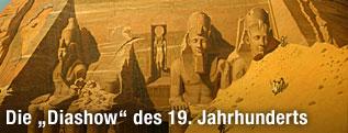 Hubert Sattler: Der Felsentempel von Abu Simbel (1846)