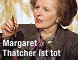 Die britische Ex-Premierministerin Margaret Thatcher