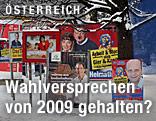 Wahlplakate aus dem Jahr 2009