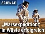 Astronauten in der Wüste