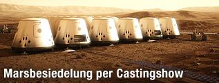 Animation einer Siedlung auf dem Mars