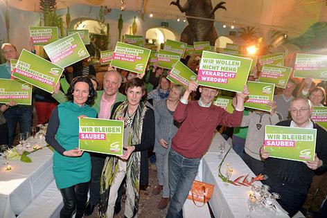 Wahlkampfauftakt der Grünenim Haus der Natur in Salzburg mit u. a. Spitzenkandidatin Astrid Rössler und Bundessprecherin Eva Glawischnig