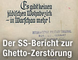 """Bericht mit dem Titel """"Es gibt keinen jüdischen Wohnbezirk in Warschau mehr!"""""""