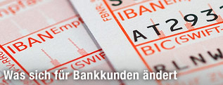 Zahlschein mit IBAN-Code