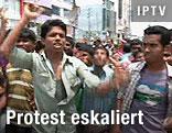 Demonstranten in Bangladesch