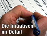 Volksbegehren wird unterschrieben