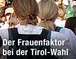 Frauen in Tiroler Tracht