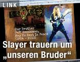 Screenshot der Seite slayer.com zeigt eine Traueranzeige
