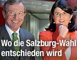 Salzburgs ÖVP-Chef Wilfried Haslauer und SPÖ-Landeshauptfrau Gabi Burgstaller