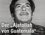 Guatemalas Ex-Diktator Efrain Rios Montt in Uniform